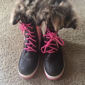 Justice Lace Up Snow Boots.